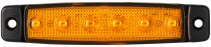 Feu orange LED Extra plat avec catadioptre 96x20ep6mm