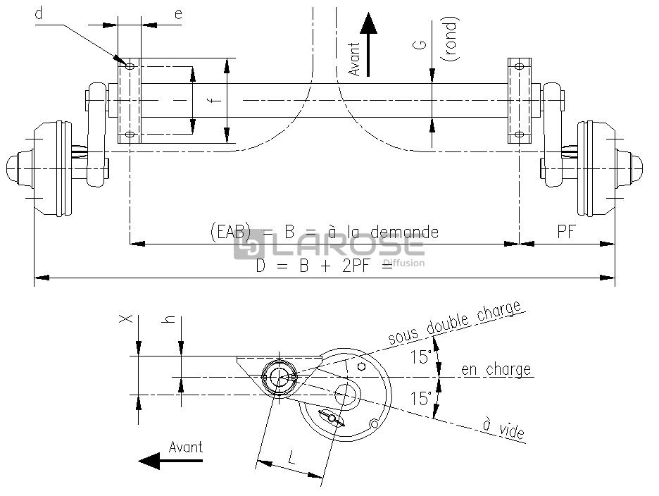 essieu frein paillard flexible de 750 1300kg vente de pi ces d tach es et accessoires pour. Black Bedroom Furniture Sets. Home Design Ideas