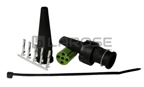 Kit connectique ASPOCK / JOKON 5 poles -VERTE-